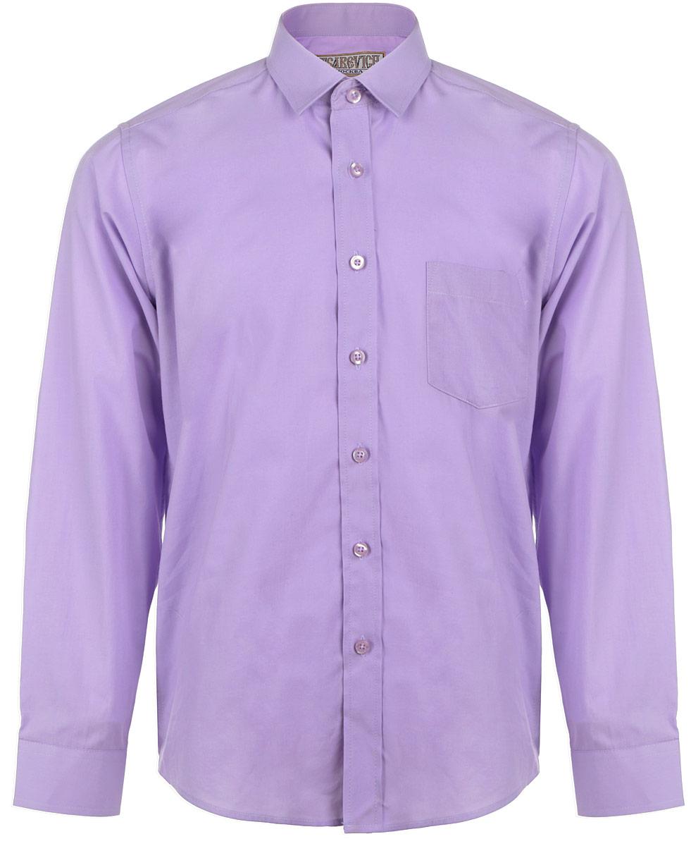 Рубашка для мальчика. WisteriaWisteriaСтильная рубашка для мальчика Tsarevich идеально подойдет вашему юному мужчине. Изготовленная из хлопка с добавлением полиэстера, она мягкая и приятная на ощупь, не сковывает движения и позволяет коже дышать, не раздражает даже самую нежную и чувствительную кожу ребенка, обеспечивая ему наибольший комфорт. Однотонная рубашка классического кроя с длинными рукавами и отложным воротничком застегивается по всей длине на пуговицы. На груди располагается накладной карман. Края рукавов дополнены широкими манжетами на пуговицах. Низ изделия немного закруглен к боковым швам. Такая рубашка будет прекрасно смотреться с брюками и джинсами. Она станет неотъемлемой частью детского гардероба.