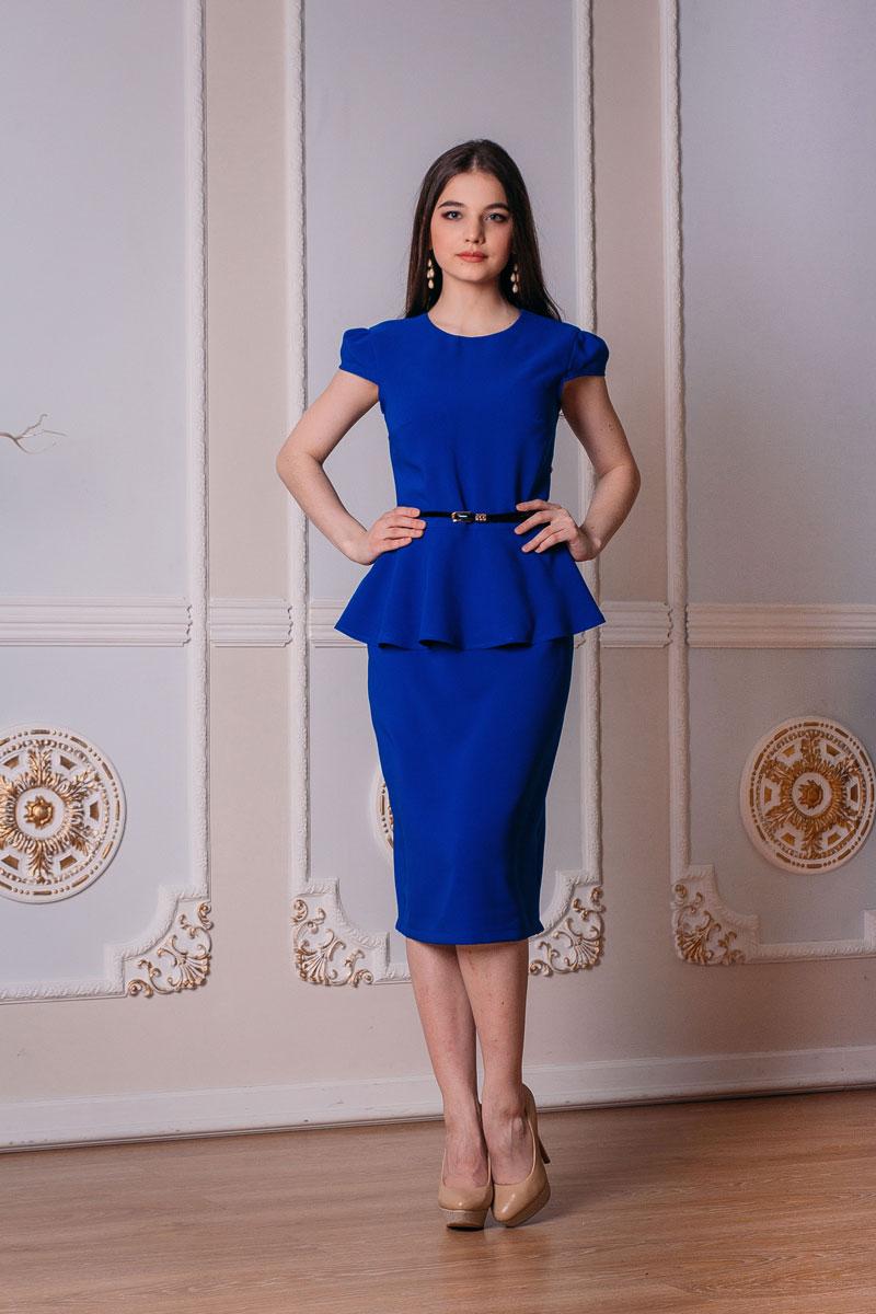 Платье. 768768Элегантное платье-футляр Lautus выполнено из высококачественного эластичного полиэстера. Такое платье обеспечит вам комфорт и удобство при носке. Модель с короткими рукавами и круглым вырезом горловины выгодно подчеркнет все достоинства вашей фигуры благодаря приталенному силуэту. Платье-миди застегивается на застежку-молнию на спинке, дополнено пришивной юбкой, оформленной декоративными встречными складками. Изделие украшено оборками на талии. Изысканное платье-миди создаст обворожительный и неповторимый образ. Это модное и удобное платье станет превосходным дополнением к вашему гардеробу, оно подарит вам удобство и поможет вам подчеркнуть свой вкус и неповторимый стиль.