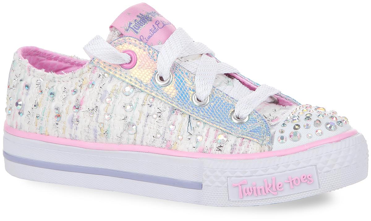 Skechers Кеды для девочки Shuffles-Glimmer Glance. 10559L-WMLT