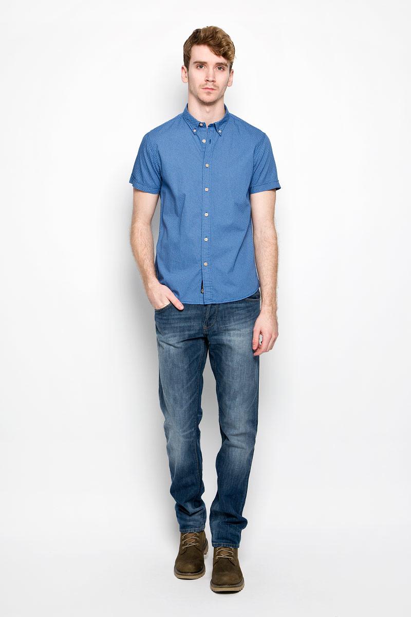 Рубашка20100198_538Стильная мужская рубашка Broadway, изготовленная из высококачественного хлопка, необычайно мягкая и приятная на ощупь, не сковывает движения и позволяет коже дышать, обеспечивая наибольший комфорт. Модная рубашка с отложным воротником и короткими рукавами застегивается на пластиковые пуговицы. Уголки воротника фиксируются также при помощи пуговиц. Такая модель будет дарить вам комфорт в течение всего дня и станет стильным дополнением к вашему гардеробу.