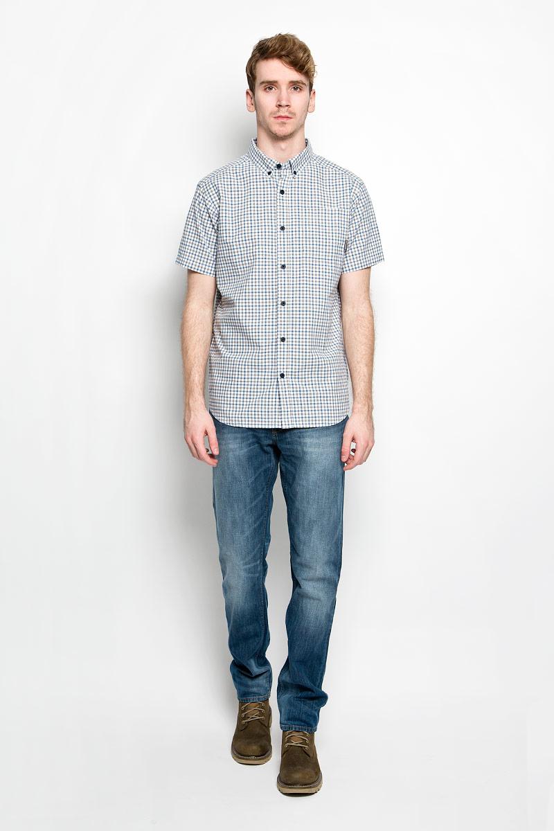 Рубашка мужская Rapid Rivers II Short Sleeve Shirt. 15776711577671_413Мужская рубашка Columbia Rapid Rivers II Short Sleeve Shirt, выполненная из натурального хлопка, прекрасно подойдет для повседневной носки. Материал очень легкий, мягкий и приятный на ощупь, не сковывает движения и позволяет коже дышать. Рубашка классического кроя с отложным воротником и короткими рукавами застегивается на пуговицы по всей длине. На груди предусмотрен накладной карман. Такая модель будет дарить вам комфорт в течение всего дня и станет стильным дополнением к вашему гардеробу.