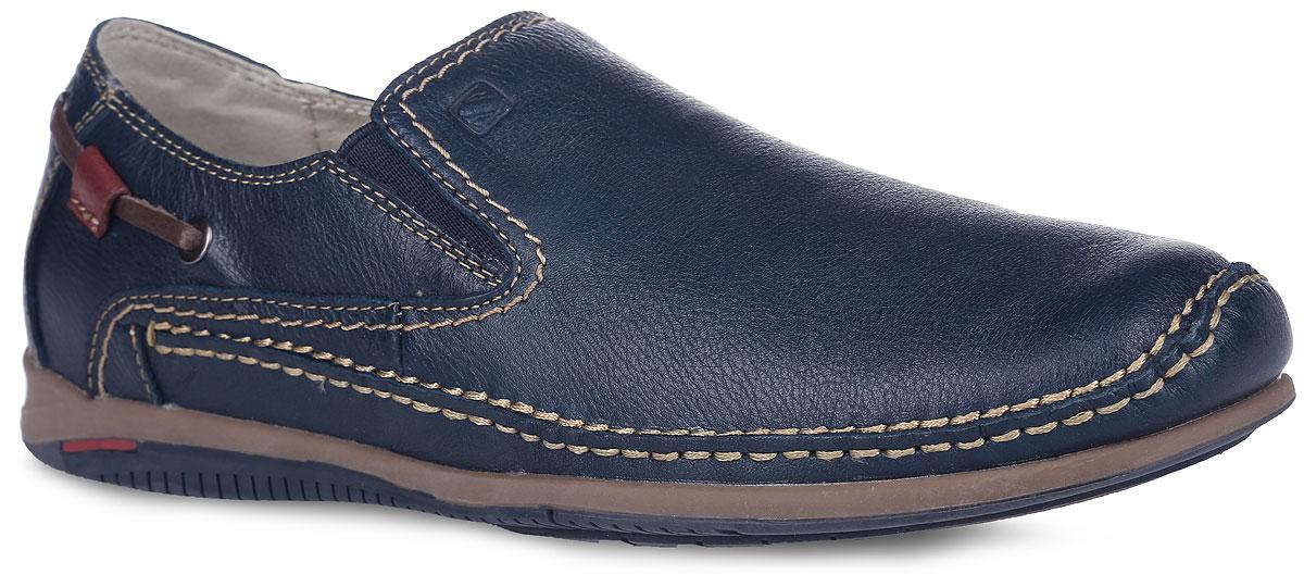 Туфли мужские. SM2962_04_09_BLUESM2962_04_09_BLUEОригинальные туфли от Spur - отличный вариант на каждый день. Модель выполнена из натуральной кожи и оформлена по низу фактурным швом, на подъеме - эластичными вставками из текстиля и фирменным тиснением, с боковых сторон в задней части - декоративными шнурками и металлическими люверсами. Кожаная подкладка предотвратит натирание. Стелька из ЭВА материала с верхним покрытием из натуральной кожи обеспечит комфорт и уют. Подошва оснащена рифлением для лучшего сцепления с поверхностями. Модные туфли придутся вам по душе.