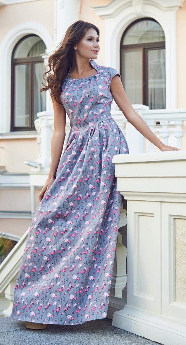 P45K-22Изящное однотонное платье Анна Чапман, выполненное из эластичного хлопка, идеально сидит благодаря правильным выточкам. Платье-макси приталенного кроя с воротником-стойкой, дополненным круглым вырезом горловины и короткими рукавами-реглан подойдет как для вечернего выхода, так и на каждый день. Изделие застёгивается сбоку на потайную застежку-молнию. Юбка дополнена складками, что придает силуэту еще более утонченный вид и подчеркивает талию. Предусмотрены врезные карманы по бокам. Платье оформлено красочным цветочным принтом. Платье Анна Чапман станет стильным дополнением к вашему базовому гардеробу. В таком наряде вы, безусловно, привлечете восхищенные взгляды окружающих.