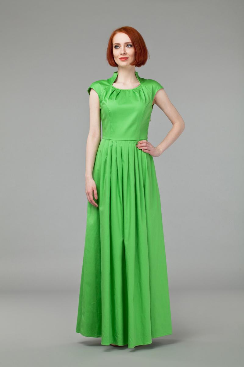 Платье. P45KP45K-LИзящное однотонное платье Анна Чапман, выполненное из эластичного хлопка, идеально сидит благодаря правильным выточкам. Платье-макси приталенного кроя с воротником-стойкой, дополненным круглым вырезом горловины и короткими рукавами-реглан подойдет как для вечернего выхода, так и на каждый день. Изделие застёгивается сбоку на потайную застежку-молнию. Юбка дополнена складками, что придает силуэту еще более утонченный вид и подчеркивает талию. Предусмотрены врезные карманы по бокам. Платье Анна Чапман станет стильным дополнением к вашему базовому гардеробу. В таком наряде вы, безусловно, привлечете восхищенные взгляды окружающих.