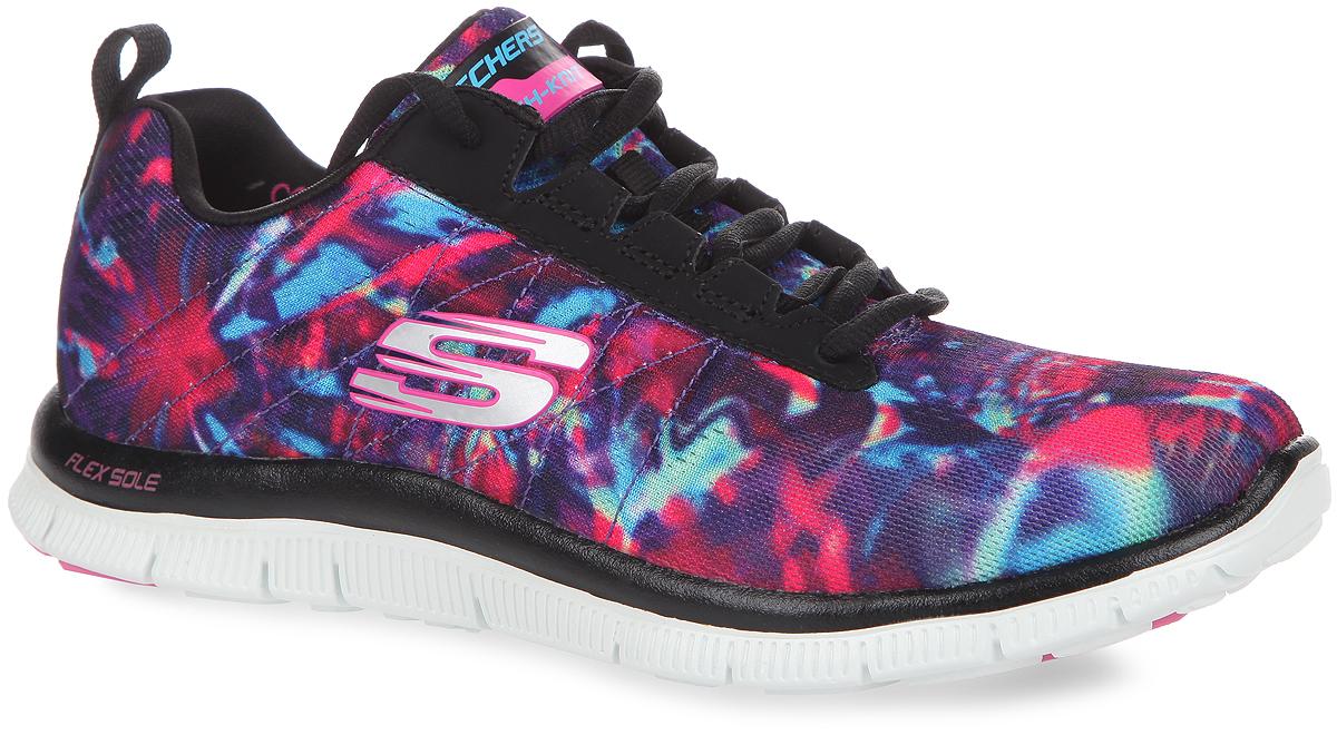 Кроссовки женские Flex-Appeal. 1244712447-BKMTУниверсальные женские кроссовки Flex-Appeal от Skechers отлично подойдут для занятий спортом. Главная отличительная черта - очень яркий принт верха кроссовка, благодаря которому владелица этой обуви, не останется незамеченной. Модель выполнена из прочного, хорошо вентилируемого текстиля, сбоку оформлена логотипом бренда. Шнуровка в области подъема гарантирует надежную фиксацию обуви на ноге. В подошве данной обуви расположены канавки Flex Sole - благодаря им, подошва кроссовок может сгибаться с удивительной легкостью, тем самым обеспечивая максимальное удобство во время занятий спортом. За комфорт в данной обуви, отвечает специальная стелька с эффектом памяти Memory Foam, которая после деформации, быстро возвращается в свою первоначальную форму.