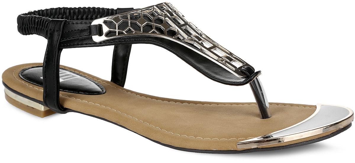 Сандалии женские. 176-01-HF-01-PP176-01-HF-01-PPОригинальные женские сандалии от Calipso заинтересуют вас своим дизайном. Модель изготовлена из искусственной кожи. Сверху изделие оформлено декоративным элементом оригинальной формы, спереди и на каблуке - металлическими вставками. Перемычка между пальцами и ремешок со вшитой резинкой прочно зафиксируют модель на вашей ножке. Рифление на подошве и на каблуке гарантирует идеальное сцепление с любыми поверхностями. Стильные сандалии внесут изюминку в ваш модный образ.