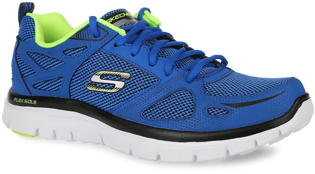 Кроссовки мужские. 51460-BLBK51460-BLBKУниверсальные мужские кроссовки для бега и занятий спортом. Верх обуви выполнен из прочной, вентилируемой нейлоновой сетки и легкой, но прочной синтетической кожи, что позволяет добиться легчайшего веса кроссовка. В подошве данной обуви расположены канавки FLEX SOLE - благодаря им, подошва кроссовок может сгибаться с удивительной легкостью, тем самым обеспечивая максимальное удобство во время занятий спортом. За комфорт в данной обуви, отвечает новейшая разработка компании Skechers - специал