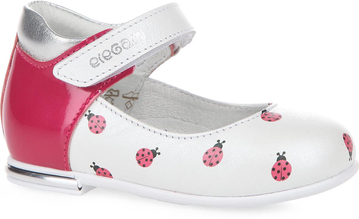7-806051602Удобные и стильные туфли от Elegami очаруют вашу принцессу с первого взгляда! Модель выполнена из натуральной кожи и оформлена принтом в виде божьих коровок. Ремешок на застежке-липучке обеспечивает надежную фиксацию обуви на ноге. Стелька EVA с поверхностью из натуральной кожи дополнена супинатором, который обеспечивает правильное положение ноги ребенка при ходьбе, предотвращает плоскостопие. Перфорация на стельке позволяет ножкам дышать. Протектор на подошве и на каблуке гарантирует отличное сцепление с любой поверхностью. Чудесные туфли прекрасно дополнят любой наряд вашей модницы.