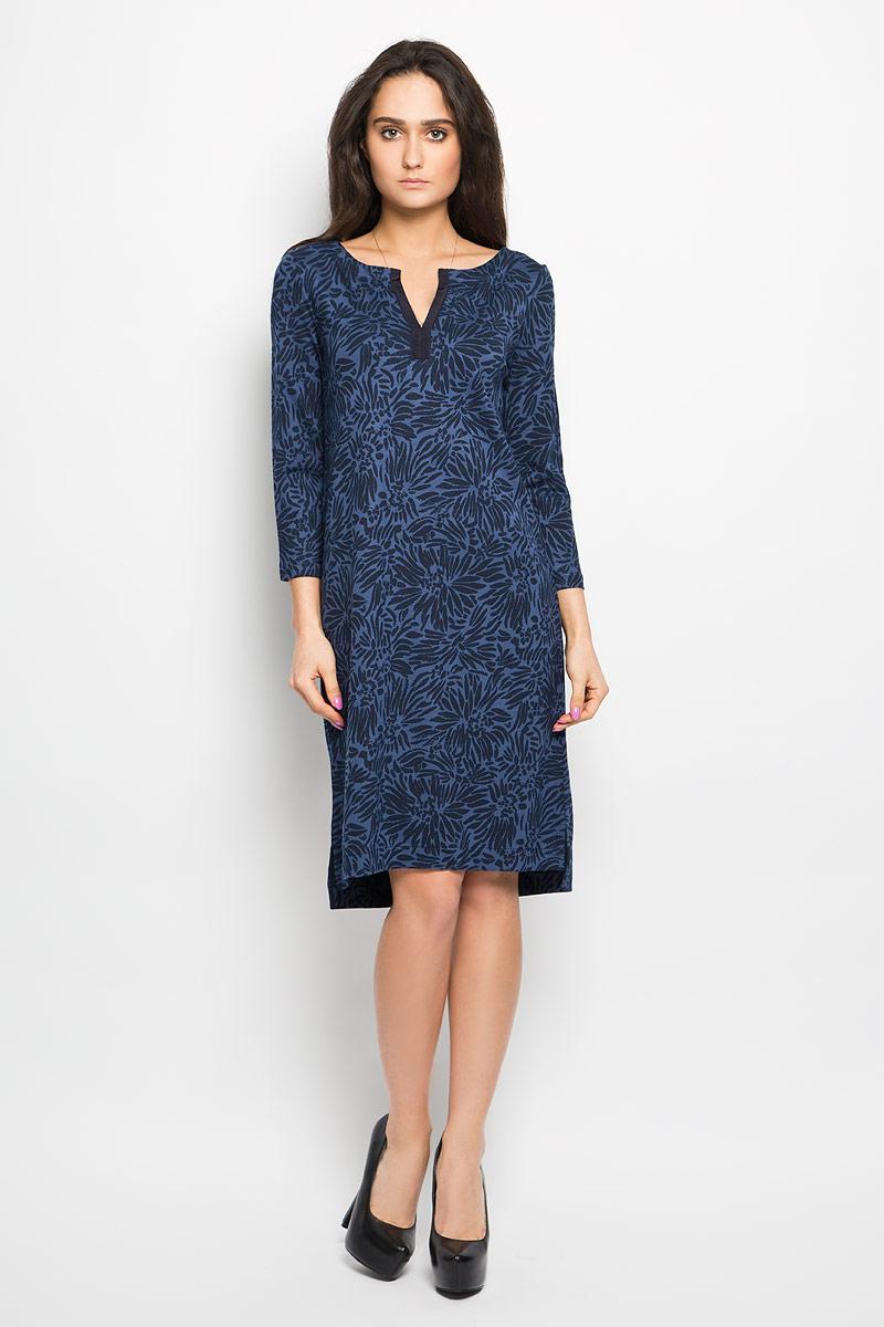 304159085Очаровательное платье Marc O`Polo, выполненное из приятной на ощупь вискозной ткани, идеально впишется в ваш гардероб. Модель полуприлегающего силуэта, с рукавами 3/4 и v-образным вырезом горловины. Изысканное платье, оформленное оригинальным принтом, создаст обворожительный неповторимый образ. Спинка изделия немного удлинена. Это модное и удобное платье станет превосходным дополнением к вашему гардеробу, оно подарит вам удобство и поможет вам подчеркнуть свой вкус и неповторимый стиль.