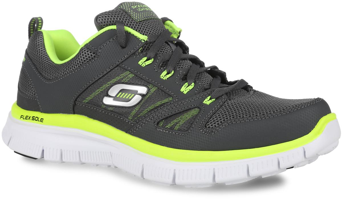 Кроссовки мужские Flex Advantage. 5125151251-BBKУниверсальные мужские кроссовки Flex Advantage от Skechers для бега и занятий спортом. Верх обуви выполнен из прочной, вентилируемой нейлоновой сетки и легкой, но прочной синтетической кожи, что позволяет добиться легчайшего веса кроссовка. Классическая шнуровка в области подъема гарантирует надежную фиксацию обуви на ноге. В подошве данной обуви расположены канавки Flex Sole - благодаря им, подошва кроссовок может сгибаться с удивительной легкостью, тем самым обеспечивая максимальное удобство во время занятий спортом. За комфорт в данной обуви, отвечает новейшая разработка компании Skechers - специальная стелька с эффектом памяти, Memory Foam, которая после деформации, быстро возвращается в свою первоначальную форму.