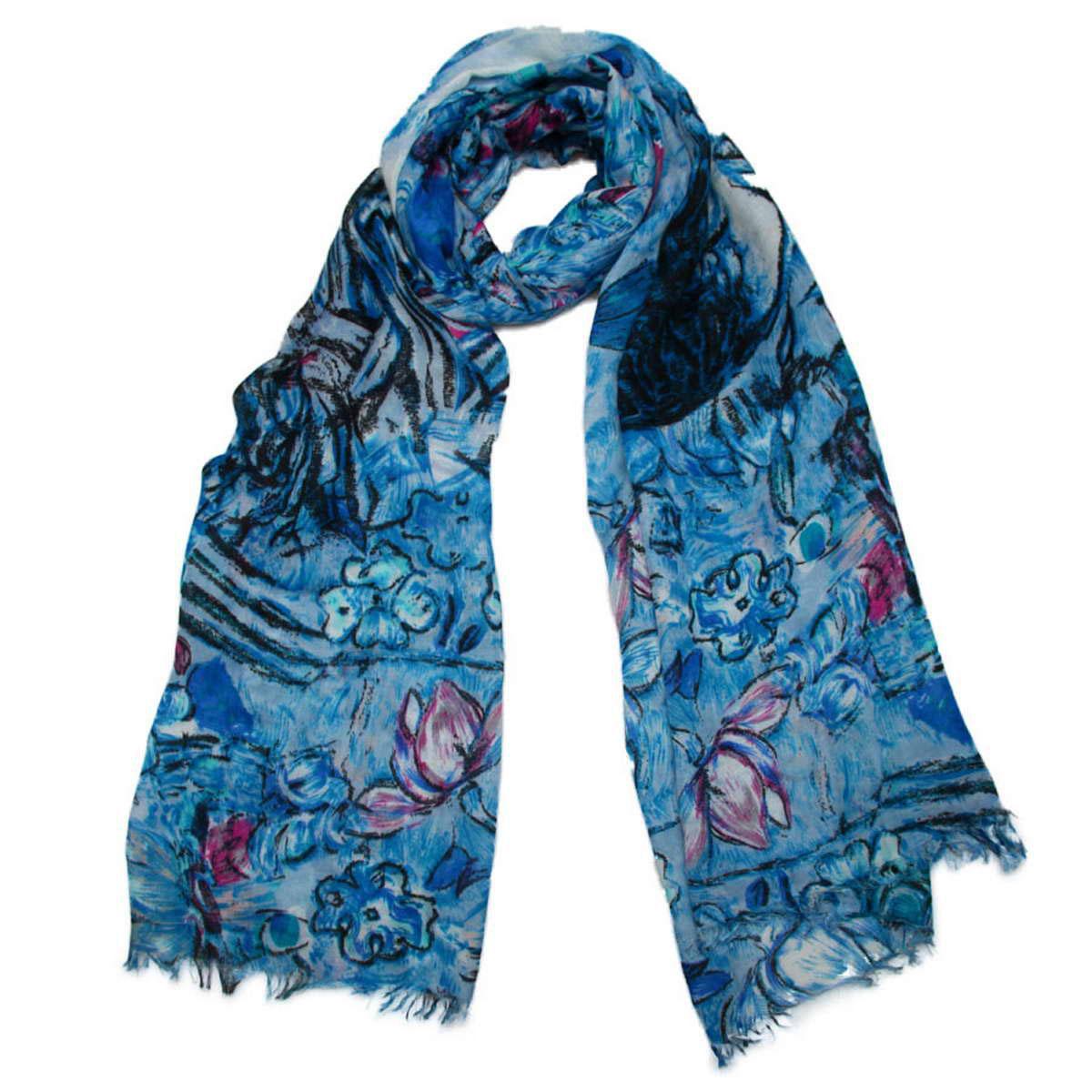 Палантин3415201-05Элегантный женский палантин Venera изготовленный из вискозы, станет идеальным украшением для наряда нежной, тонкой и романтичной натуры. Палантин имеет отличное качество и приятную текстуру материала, он подарит настоящий комфорт при носке, а большие размеры позволят завязать изделие множеством вариантов. Изделие оформлено оригинальным принтом в пастельных тонах и декорировано бахромой. В этом палантине вы всегда будете выглядеть женственной и привлекательной.