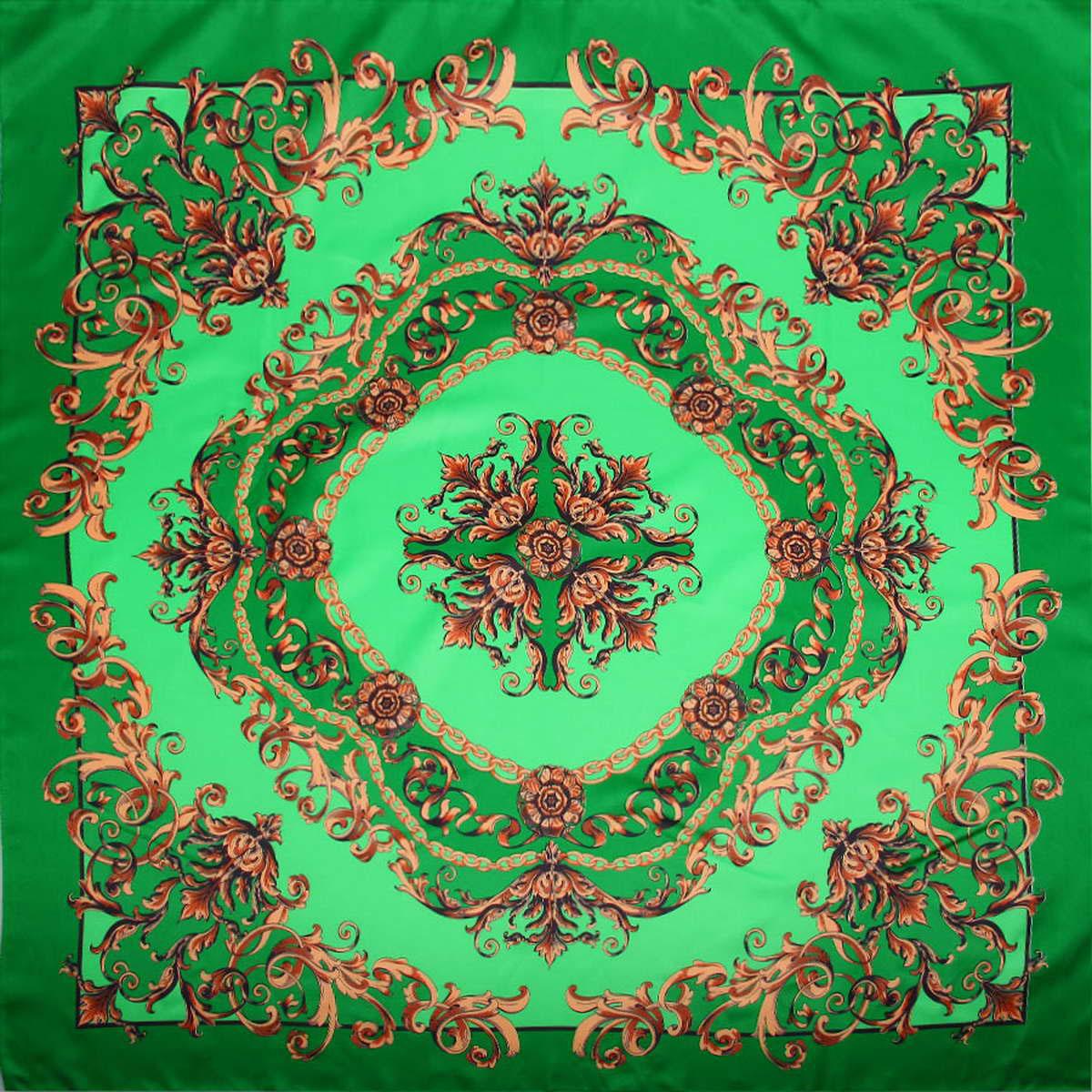 Платок женский. 39044723904472-1Стильный женский платок Venera изготовлен из качественного и легкого полиэстера, будет самым универсальным вариантом для повседневного аксессуара. Великолепный насыщенный цвет и оригинальный принт, напоминающий узор аристократичного стиля, будут придавать любому вашему наряду изысканности, подчеркивать женственность и стильность. Классическая квадратная форма позволяет носить платок на шее, украшать им прическу или декорировать сумочку. Такой платок превосходно дополнит любой наряд и подчеркнет ваш неповторимый вкус и элегантность.
