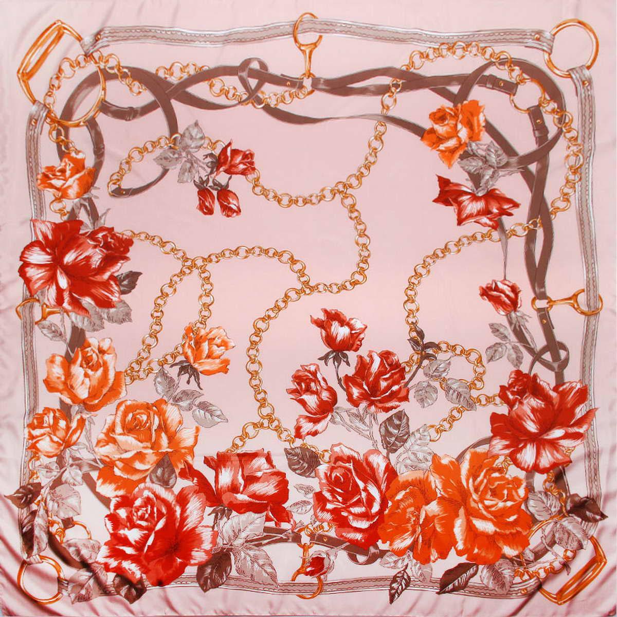 3904672-05Изысканный и аристократично шикарный женский платок Venera изготовлен из легкого и нежного полиэстера, станет самым популярным и неповторимым аксессуаром в этом сезоне. Спокойная и универсальная цветовая гамма, а также рисунок из красивых роз придаст вашему образу женственности, утонченности и деликатности. Классическая квадратная форма позволяет носить платок на шее, украшать им прическу или декорировать сумочку. Платок Venera превосходно дополнит любой наряд и подчеркнет ваш неповторимый вкус и элегантность.