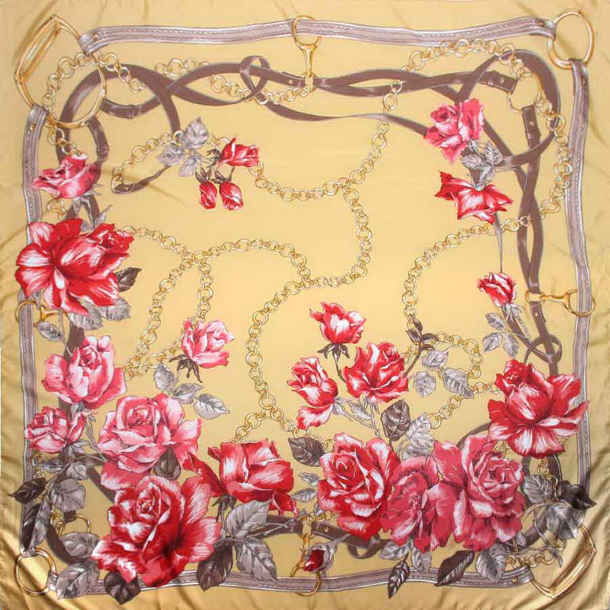 Платок3904672-05Изысканный и аристократично шикарный женский платок Venera изготовлен из легкого и нежного полиэстера, станет самым популярным и неповторимым аксессуаром в этом сезоне. Спокойная и универсальная цветовая гамма, а также рисунок из красивых роз придаст вашему образу женственности, утонченности и деликатности. Классическая квадратная форма позволяет носить платок на шее, украшать им прическу или декорировать сумочку. Платок Venera превосходно дополнит любой наряд и подчеркнет ваш неповторимый вкус и элегантность.