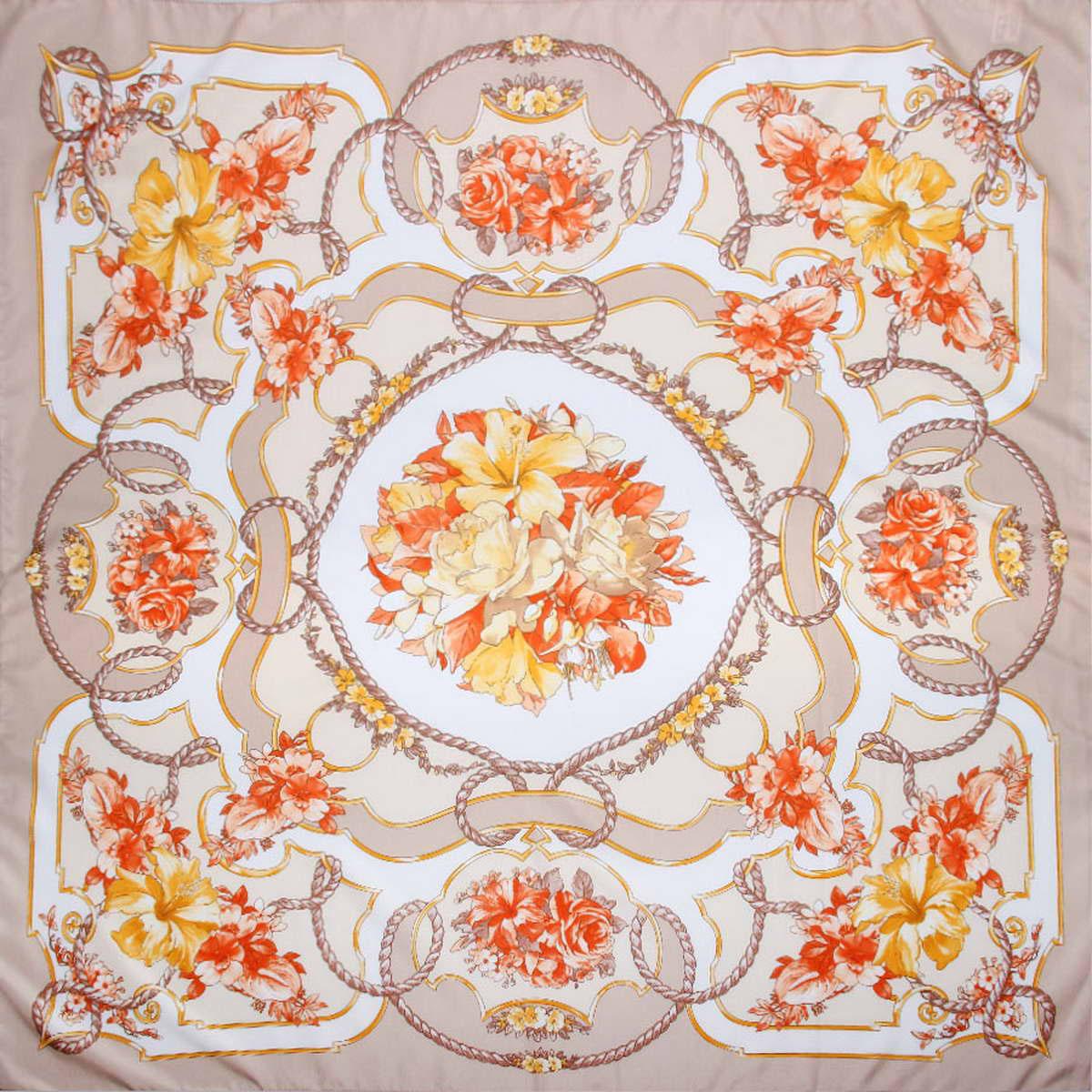 Платок3904972-10Стильный женский платок Venera станет великолепным завершением любого наряда. Платок, изготовленный из полиэстера, оформлен цветочным принтом. Классическая квадратная форма позволяет носить платок на шее, украшать им прическу или декорировать сумочку. Легкий и приятный на ощупь платок поможет вам создать изысканный женственный образ. Такой платок превосходно дополнит любой наряд и подчеркнет ваш неповторимый вкус и элегантность.