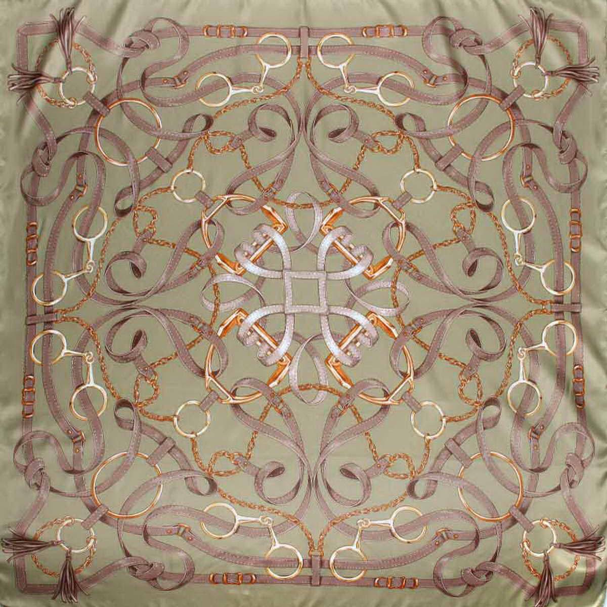 Платок3904972-20Стильный женский платок Venera станет великолепным завершением любого наряда. Платок, изготовленный из полиэстера, оформлен оригинальным принтом с изображением цепей, ремешков и колец. Классическая квадратная форма позволяет носить платок на шее, украшать им прическу или декорировать сумочку. Легкий и приятный на ощупь платок поможет вам создать изысканный женственный образ. Такой платок превосходно дополнит любой наряд и подчеркнет ваш неповторимый вкус и элегантность.