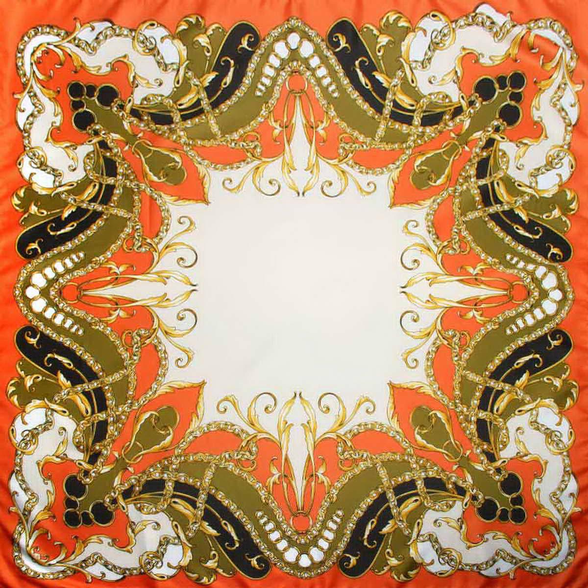 Платок женский. 3904972-273904972-27Стильный женский платок Venera станет великолепным завершением любого наряда. Платок, изготовленный из полиэстера, оформлен оригинальным принтом с изображением цепей и колец. Классическая квадратная форма позволяет носить платок на шее, украшать им прическу или декорировать сумочку. Легкий и приятный на ощупь платок поможет вам создать изысканный женственный образ. Такой платок превосходно дополнит любой наряд и подчеркнет ваш неповторимый вкус и элегантность.