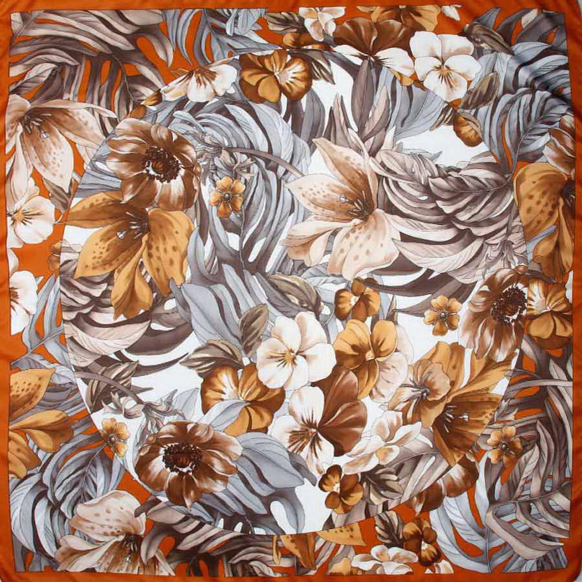 Платок женский. 3904972_цветы3904972-12Стильный женский платок Venera станет великолепным завершением любого наряда. Платок, изготовленный из полиэстера, оформлен цветочный принтом. Классическая квадратная форма позволяет носить платок на шее, украшать им прическу или декорировать сумочку. Легкий и приятный на ощупь платок поможет вам создать изысканный женственный образ. Такой платок превосходно дополнит любой наряд и подчеркнет ваш неповторимый вкус и элегантность.