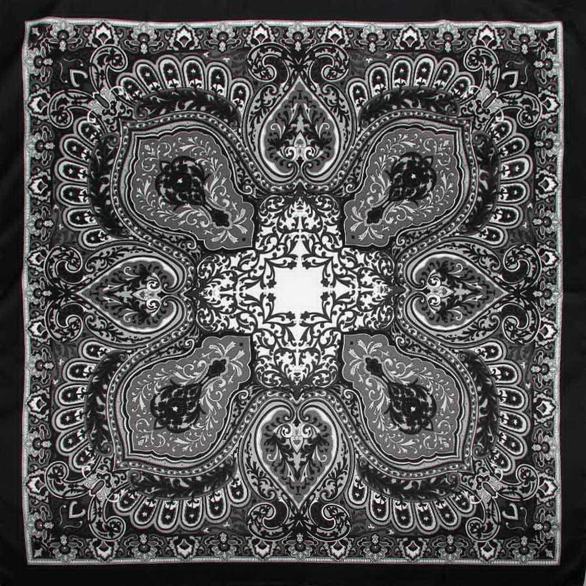 Платок3906133-02Изысканный и невероятно красивый женский платок Venera изготовлен из нежного и легкого полиэстера, станет умопомрачительным аксессуаром для нежной и романтичной женщины, которая всегда стремиться произвести эффект на окружающих. Этот замечательный платок с деликатным восточным рисунком добавит образу экзотичности, восточного шарма и великолепия. Классическая квадратная форма позволяет носить платок на шее, украшать им прическу или декорировать сумочку. Такой платок превосходно дополнит любой наряд и подчеркнет ваш неповторимый вкус и элегантность.