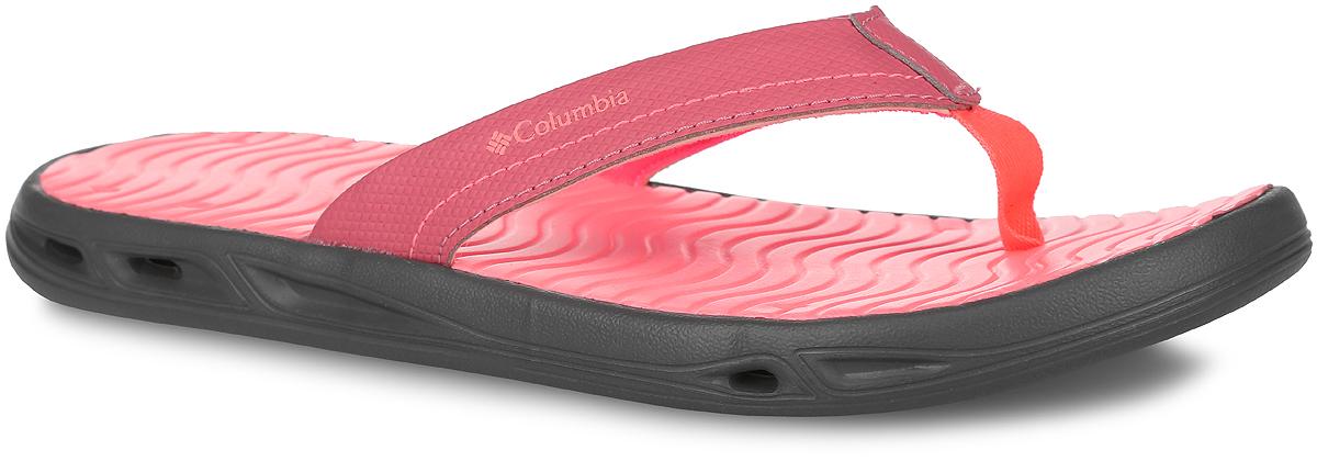 Сланцы женские Vent Cush Flip. 16780311678031-581Стильные женские сланцы Vent Cush Flip от Columbia займут достойное место среди вашей летней обуви. Невероятно легкие и мягкие шлепанцы из вспененной резины Techlite принимают форму стопы и обеспечивают максимальный комфорт. Верх модели изготовлен из полимерного материала с текстильной подкладкой. Эргономичная перемычка между пальцами отвечает за прочную фиксацию модели на стопе. Дренажные порты в подошве способствуют быстрому оттоку воды. Рельефная подошва не скользит.