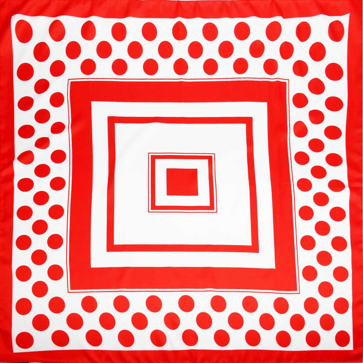 Платок3907133-04Яркий и неповторимый женский платок Venera изготовлен из легкого полиэстера, станет самым оригинальным аксессуаром в этом сезоне. Сочетание цветов уже делает изделие неотразимым и универсальным, а принт в горошек и квадрат, напоминающий тоннель, завораживает своей простотой и шикарностью. Классическая квадратная форма позволяет носить платок на шее, украшать им прическу или декорировать сумочку. Платок Venera превосходно дополнит любой наряд и подчеркнет ваш неповторимый вкус и элегантность.