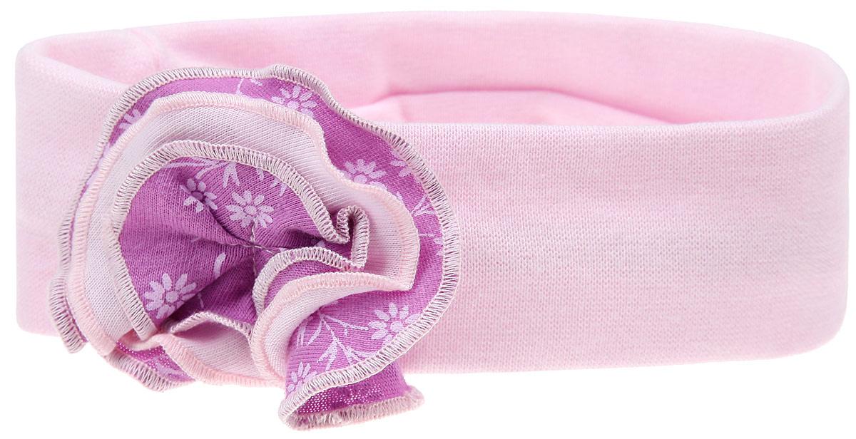 Повязка на голову детская11-94Очаровательная повязка для девочки Lucky Child Цветочки отлично подойдет для солнечной жаркой погоды или для создания праздничного образа. Симпатичный аксессуар защитит голову от яркого солнца или возьмет на себя функцию ободка. Повязка, выполненная из натурального хлопка, оформлена пришитым текстильным многослойным цветком. Изделие не сдавливает голову малышки и превосходно тянется. Повязка завершит образ вашей маленькой принцессы и станет незаменимым аксессуаром в детском гардеробе. Уважаемые клиенты! Размер, доступный для заказа, является обхватом головы.