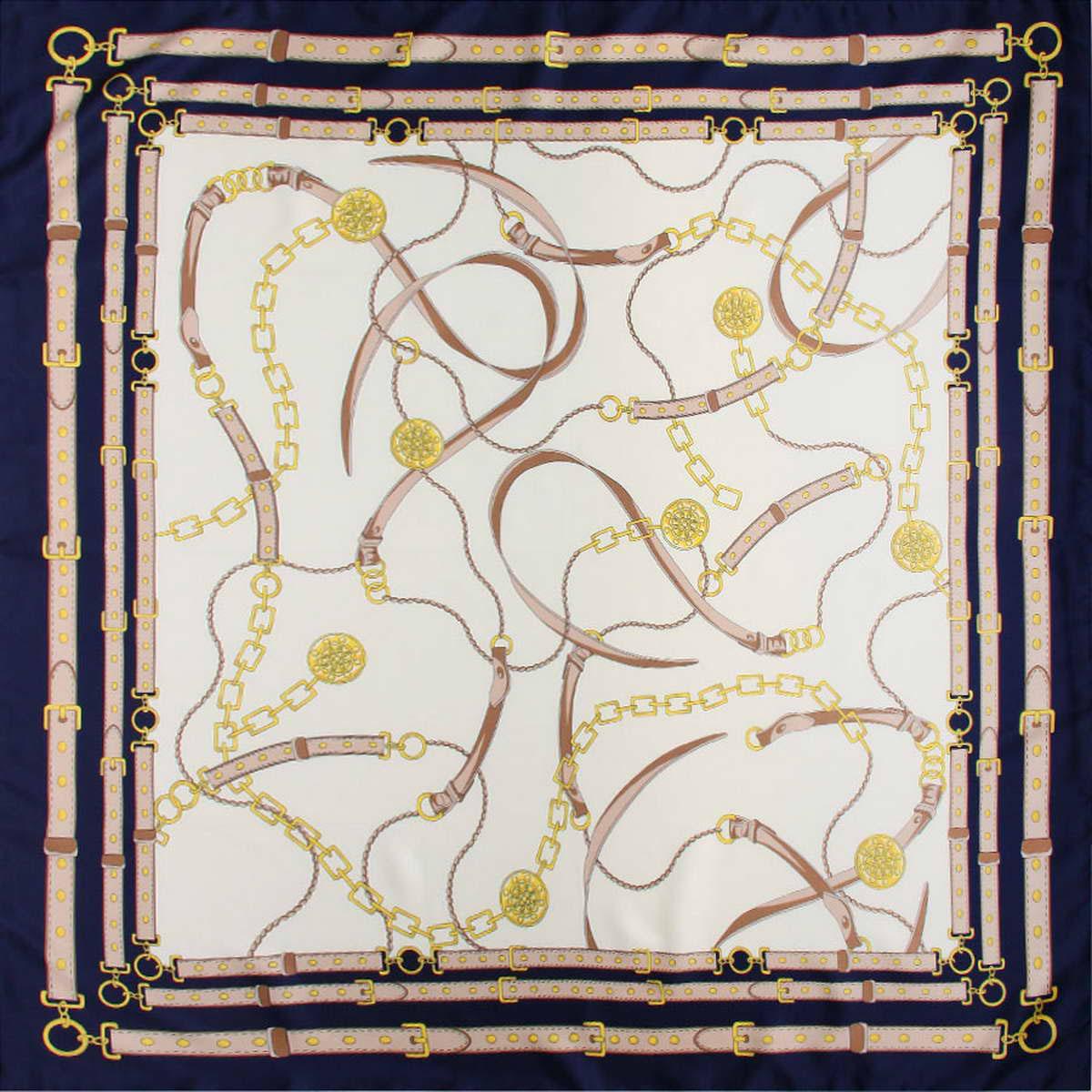 Платок женский. 3914683-53914683-5Стильный женский платок Venera станет великолепным завершением любого наряда. Платок изготовлен из полиэстера и оформлен оригинальным принтом с изображением цепей и ремешков. Классическая квадратная форма позволяет носить платок на шее, украшать им прическу или декорировать сумочку. Легкий и приятный на ощупь платок поможет вам создать изысканный женственный образ. Такой платок превосходно дополнит любой наряд и подчеркнет ваш неповторимый вкус и элегантность.