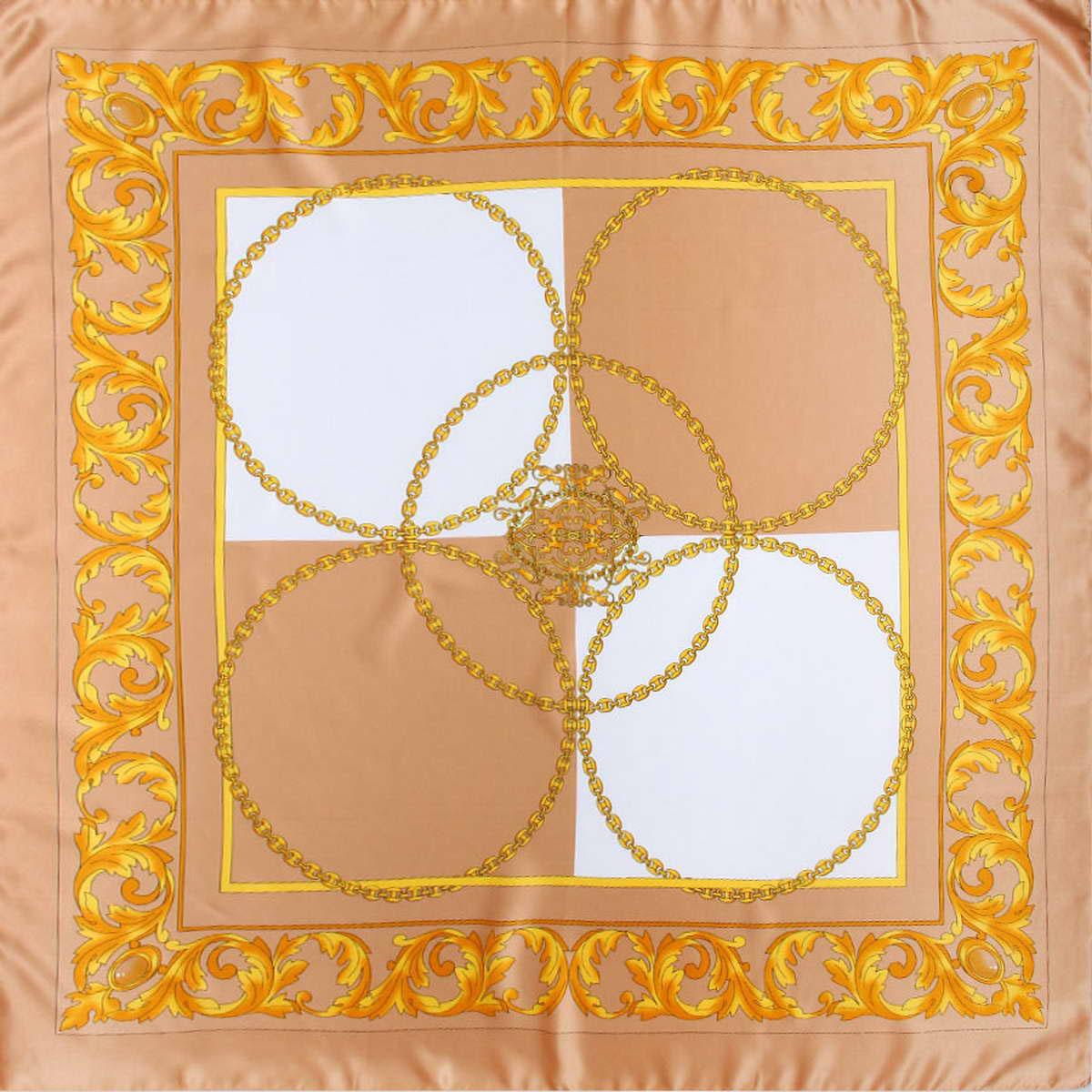 Платок3914983-04Стильный женский платок Venera станет великолепным завершением любого наряда. Платок, изготовленный из полиэстера, оформлен оригинальным принтом с изображением цепей. Классическая квадратная форма позволяет носить платок на шее, украшать им прическу или декорировать сумочку. Легкий и приятный на ощупь платок поможет вам создать изысканный женственный образ. Такой платок превосходно дополнит любой наряд и подчеркнет ваш неповторимый вкус и элегантность.