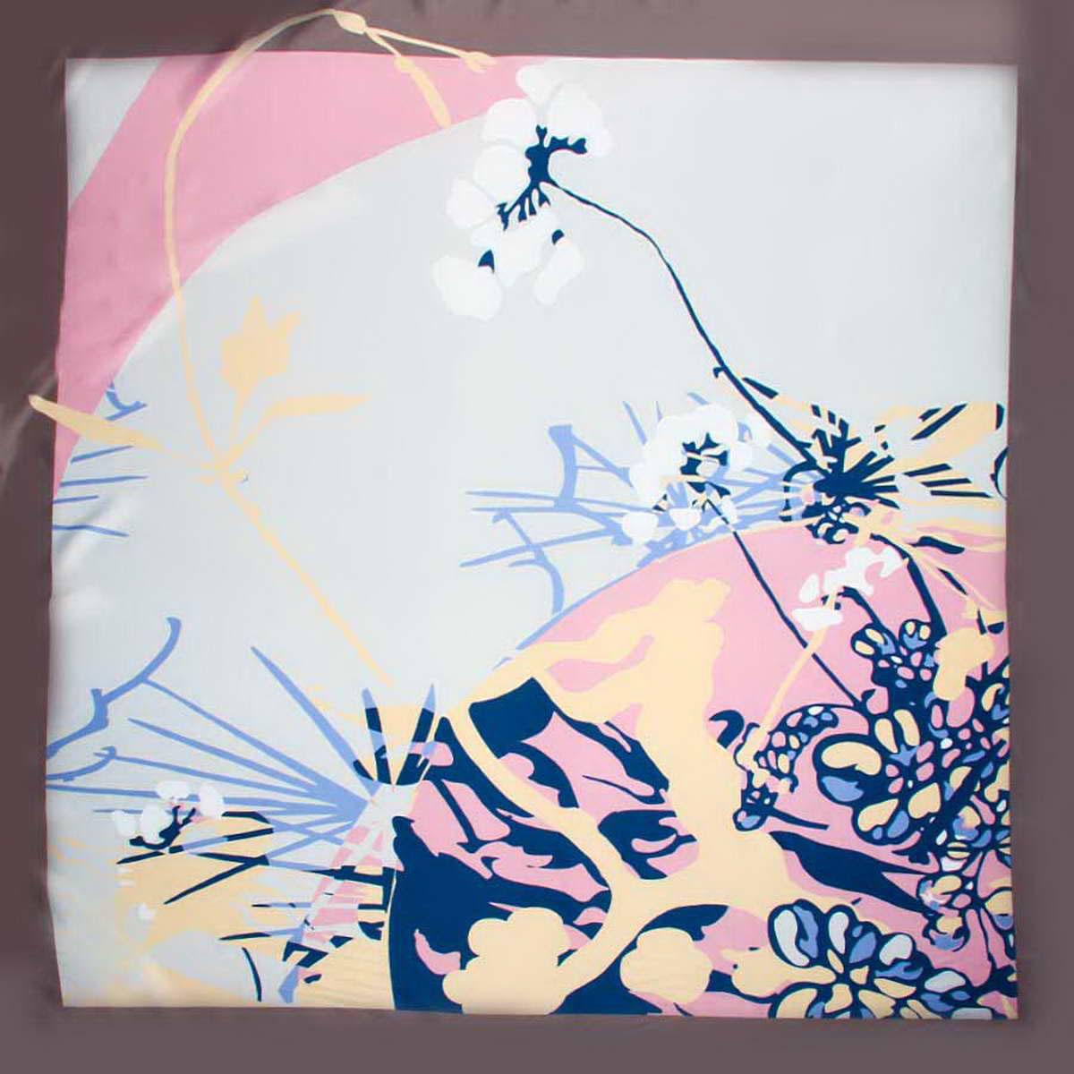 Платок женский. 3915183-123915183-12Яркий и стильный женский платок Venera изготовлен из легкого и нежного полиэстера, не оставит равнодушной ни одну настоящую модницу. Сочетание цветов очень оригинальное и безупречное, а рисунки с геометрическими элементами создают эффект гипнотического поля, которое завораживает собою и дарит ощущение невероятного и космического. Классическая квадратная форма позволяет носить платок на шее, украшать им прическу или декорировать сумочку. Платок Venera превосходно дополнит любой наряд и подчеркнет ваш неповторимый вкус и элегантность.