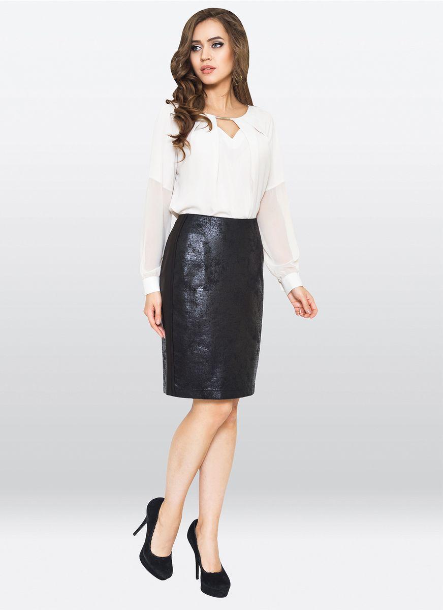 Юбка жен. 35663566Оригинальная юбка, по форме карандаш, выполнена из обливного трикотажа. Прекрасно подойдет для создания модного, дерзкого образа.