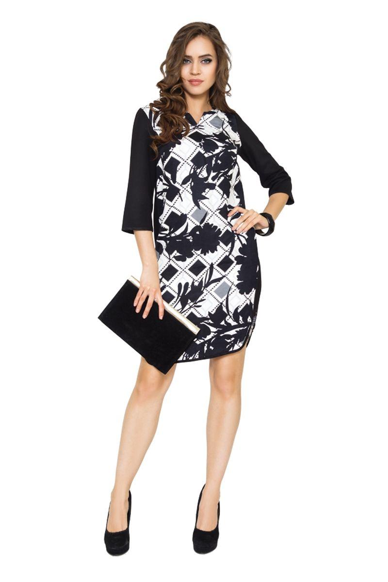 Платье жен. 3622/35963622/3596Стильное платье на каждый день, выполнено с округлым вырезом горловины и длинной рукава 3/4. Свободный крой только подчеркнет достоинства фигуры.