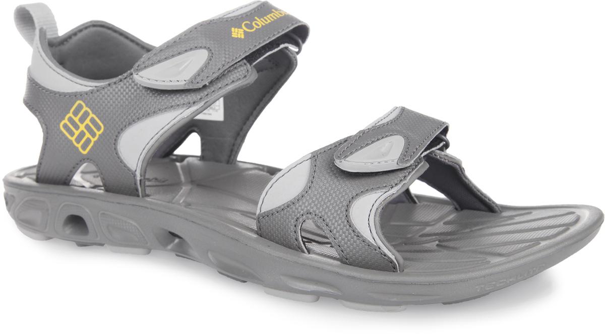 Сандалии мужские Techsun Vent. 15408511540851-012Водные мужские сандалии Techsun Vent от Columbia предназначены для активного отдыха. Верх модели выполнен из быстросохнущего полимерного материала. Внутренняя отделка - из мягкого текстиля. Сандалии надежно фиксируются на ноге при помощи хлястиков на застежках-липучках. Оформлены они вставками контрастного цвета и символикой бренда. Дренажная подошва обеспечивает вентиляцию и отток воды. Промежуточная подошва Techlite амортизирует и поддерживает стопу. Подметка Omni-Grip обеспечит хорошее сцепление на влажных поверхностях. Такие сандалии подойдут для отдыха на суше, в воде и у воды.