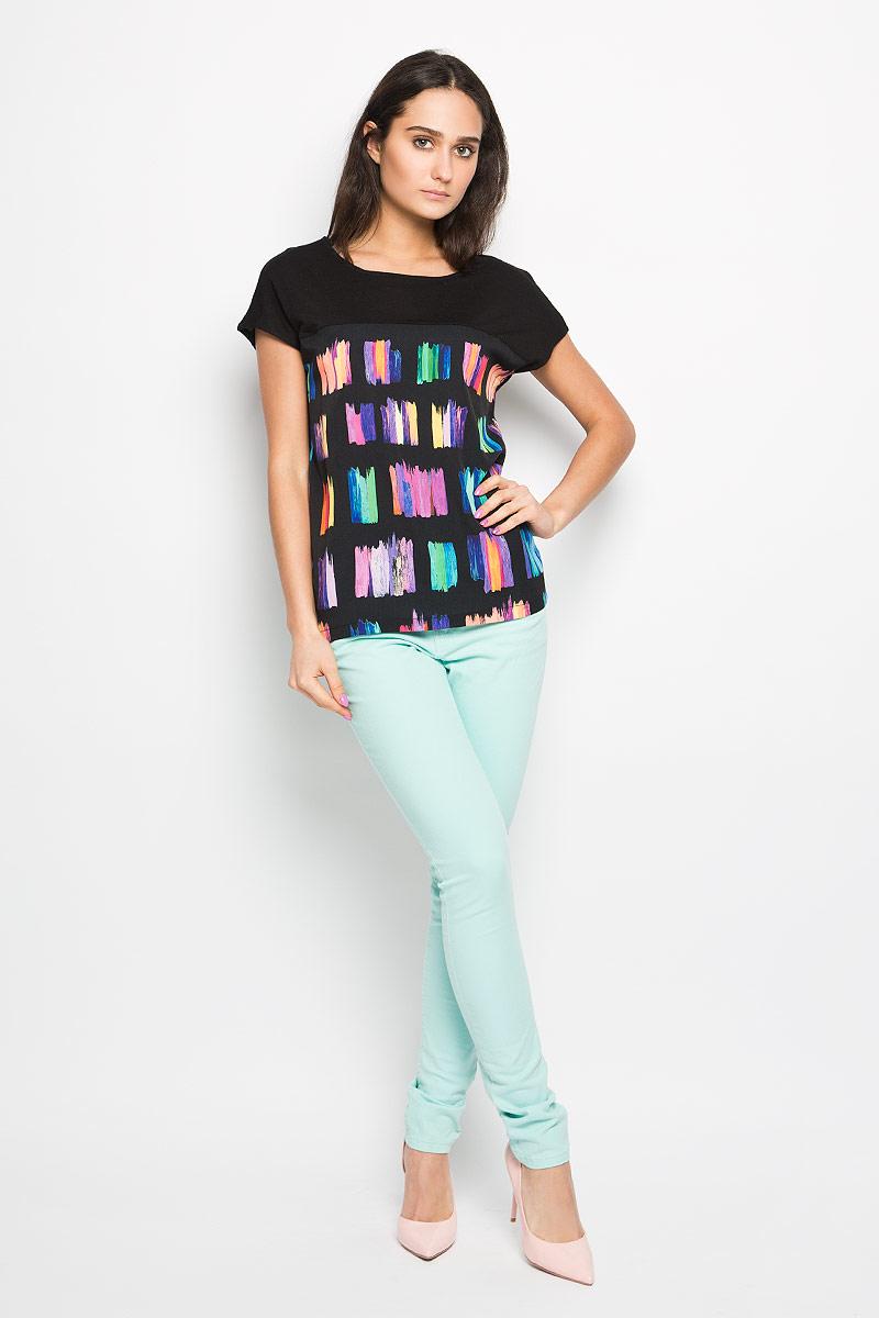 БлузкаTws-112/773-6254Модная женская блуза Sela, выполненная из высококачественного материала, подчеркнет ваш уникальный стиль и поможет создать яркий женственный образ. Блузка с короткими рукавами-кимоно и круглым вырезом горловины оформлена на груди оригинальным красочным принтом. Модель идеально подойдет для жарких летних дней. Такая блузка будет дарить вам комфорт в течение всего дня и послужит замечательным дополнением к вашему гардеробу.