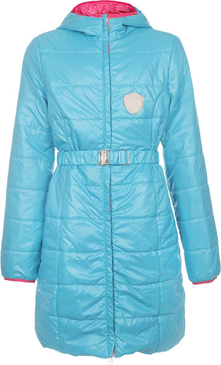 Куртка для девочки. 63626DM_BOG63626DM_BOG вар.1Теплая куртка для девочки Boom! идеально подойдет для маленькой модницы в прохладное время года. Курточка изготовлена из 100% полиэстера с утеплителем из синтепона (100% полиэстера). В качестве подкладки используется полиэстер с добавлением вискозы. Удлиненная куртка с капюшоном застегивается на пластиковую молнию и дополнительно имеет защиту подбородка. Капюшон не отстегивается. На талии имеются шлевки для ремня и эластичный поясок на металлической застежке, благодаря чему она плотно прилегает к телу. По бокам расположены два прорезных кармана. Окантовка капюшона и низ рукавов дополнены трикотажной эластичной бейкой. На груди модель оформлена небольшой нашивкой в виде шеврона. Теплая, комфортная и практичная куртка идеально подойдет для прогулок и игр на свежем воздухе!