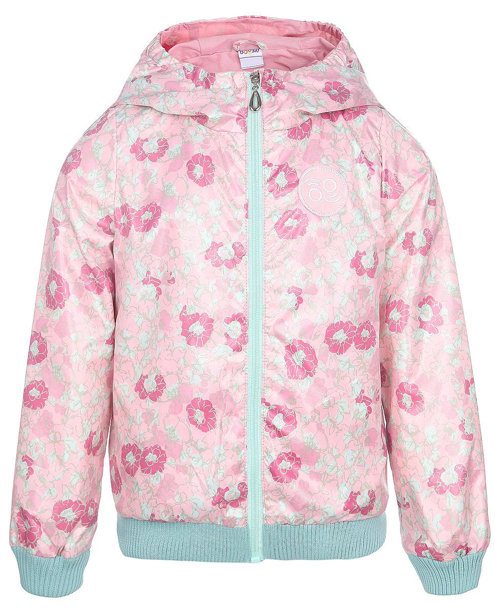 Куртка для девочек. 63618DM_BOG63618DM_BOG вариант 3Стильная куртка Boom! идеально подойдет вашему ребенку в прохладную погоду. Модель изготовлена из водонепроницаемой и ветрозащитной ткани, на подкладке из полиэстера с добавлением хлопка и вискозы. Она не сковывает движения малышки и позволяет коже дышать, не раздражает даже самую нежную и чувствительную кожу ребенка, обеспечивая ему наибольший комфорт. Куртка с капюшоном застегивается на пластиковую застежку-молнию и дополнительно имеет защиту подбородка. Капюшон не отстегивается. Низ рукавов и куртки дополнен широкими трикотажными резинками, которые не позволяют просачиваться холодному воздуху. С обеих сторон имеются два прорезных кармашка. На изделии предусмотрены светоотражающие элементы для безопасности ребенка в темное время суток. Оформлена куртка ярким нежным цветочным принтом. Оригинальный современный дизайн и модная расцветка делают эту куртку модным и стильным предметом детского гардероба. В ней ваша дочурка будет чувствовать себя уютно и комфортно, и...