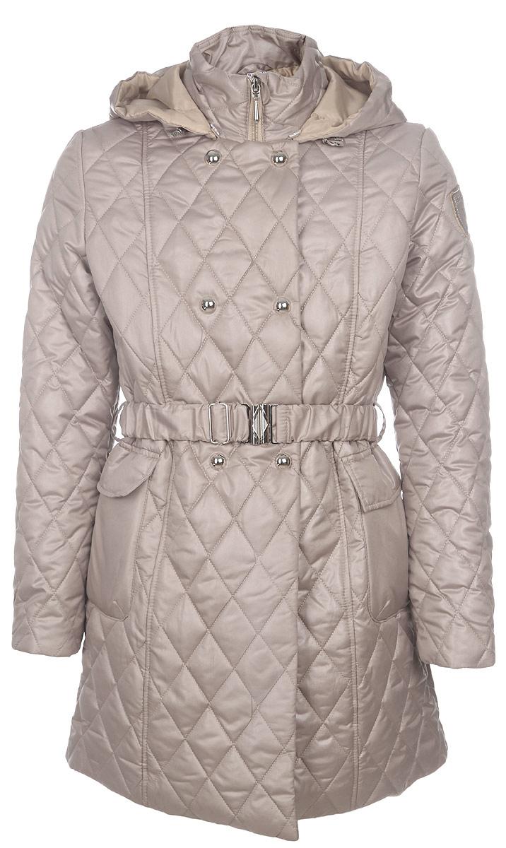 Пальто для девочки. 63574D_BOG63574D_BOG вар.1Стильное пальто для девочки Boom! идеально подойдет вашему ребенку в прохладную погоду. Модель изготовлена из водонепроницаемой и ветрозащитной ткани, на подкладке из полиэстера с добавлением вискозы, благодаря чему она необычайно мягкая и приятная на ощупь, не сковывает движения и позволяет коже дышать, не раздражает даже самую нежную и чувствительную кожу ребенка, обеспечивая ему наибольший комфорт. Приталенное пальто с отложным воротником и капюшоном застегивается на пластиковую застежку-молнию и дополнительно имеет внешнюю ветрозащитную планку на кнопках. Капюшон пристегивается с помощью пуговиц и по краю дополнен скрытой эластичной резинкой со стопперами. Спереди предусмотрены два накладных кармана с клапанами на липучках. На талии имеются шлевки для ремня. В комплект входит поясок на металлической пряжке. Оригинальный современный дизайн и модная расцветка делают это пальто модным и стильным предметом детского гардероба. В нем ваша дочурка будет чувствовать себя...