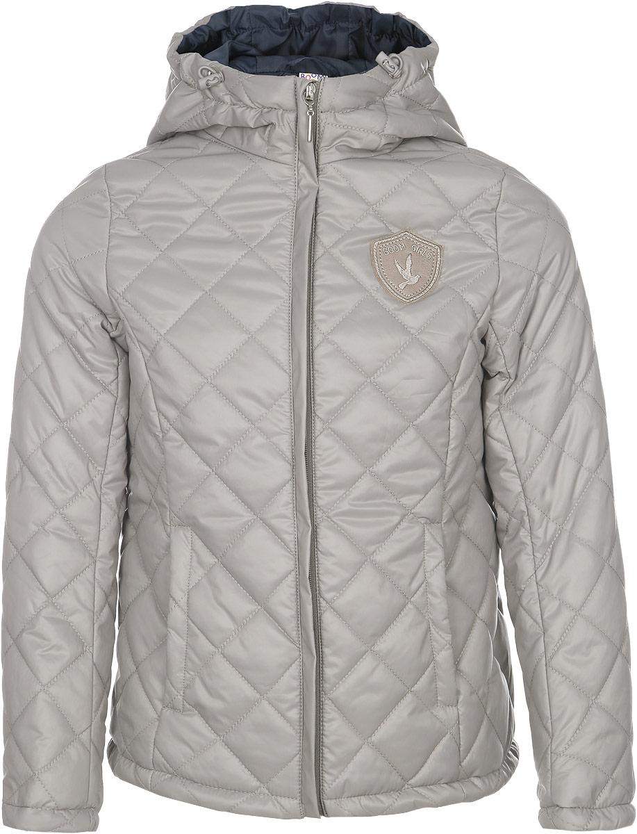 Куртка для девочки. 63623_BOG63623_BOG_вариант 2Стеганая куртка для девочки Boom! станет ярким и стильным дополнением к детскому гардеробу в прохладную погоду. Модель изготовлена из водонепроницаемой и ветрозащитной ткани, на подкладке из полиэстера с добавлением вискозы. Куртка мягкая и приятная на ощупь, не сковывает движения, легко стирается и быстро сушится. В качестве утеплителя используется синтепон, который максимально сохраняет тепло. Куртка с капюшоном застегивается на пластиковую молнию с защитой подбородка и дополнительно имеет внешнюю ветрозащитную планку. Капюшон не отстегивается, по краю дополнен эластичным шнурком со стопперами. По бокам предусмотрены два втачных кармана. Модель украшена нашивкой на груди. Изделие дополнено светоотражающим элементом для безопасности ребенка в темное время суток. Легкая, удобная и практичная куртка идеально подойдет для прогулок и игр на свежем воздухе!