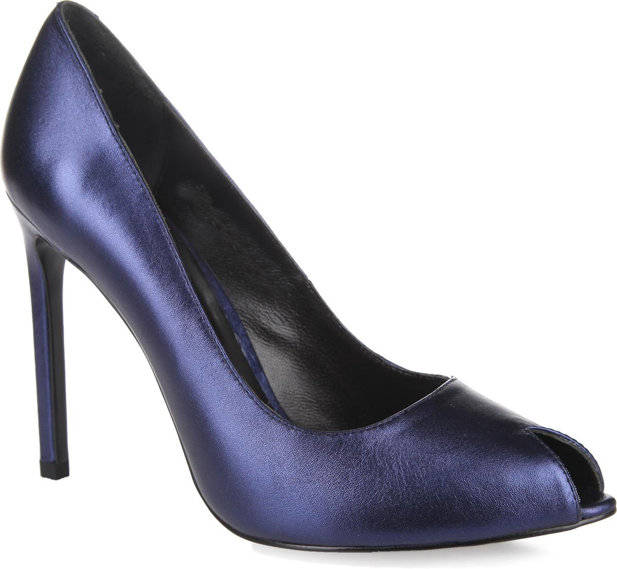 Туфли женские. 308-01-FX-20-KK308-01-FX-20-KKЭлегантные туфли на шпильке от Calipso станут прекрасным дополнением летнего гардероба. Верх модели выполнен из натуральной кожи с блестящей поверхностью. Зауженный мысок, оформленный вырезом, добавит женственности в ваш образ. Высокий тонкий каблук подчеркнет красоту и стройность ваших ног. Внутренняя часть и стелька из натуральной кожи гарантируют комфорт и удобство. Подошва оснащена рифлением для лучшего сцепления с поверхностями. Такие туфли сделают вас ярче и подчеркнут вашу индивидуальность!