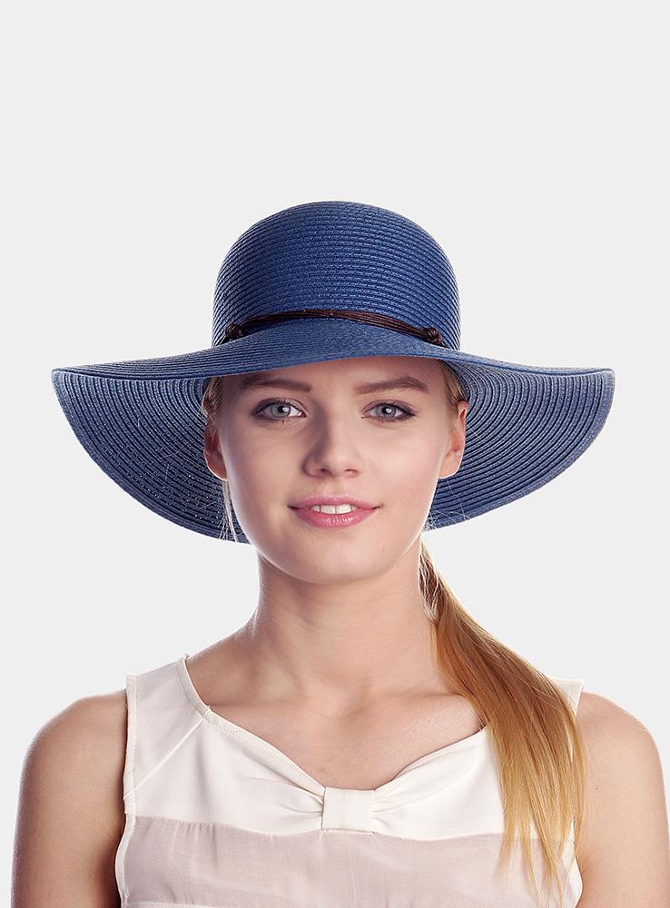 Шляпа женская Tunis. 19637051963705Классическая женская широкополая шляпа с элегантным ремешком вокруг тульи.