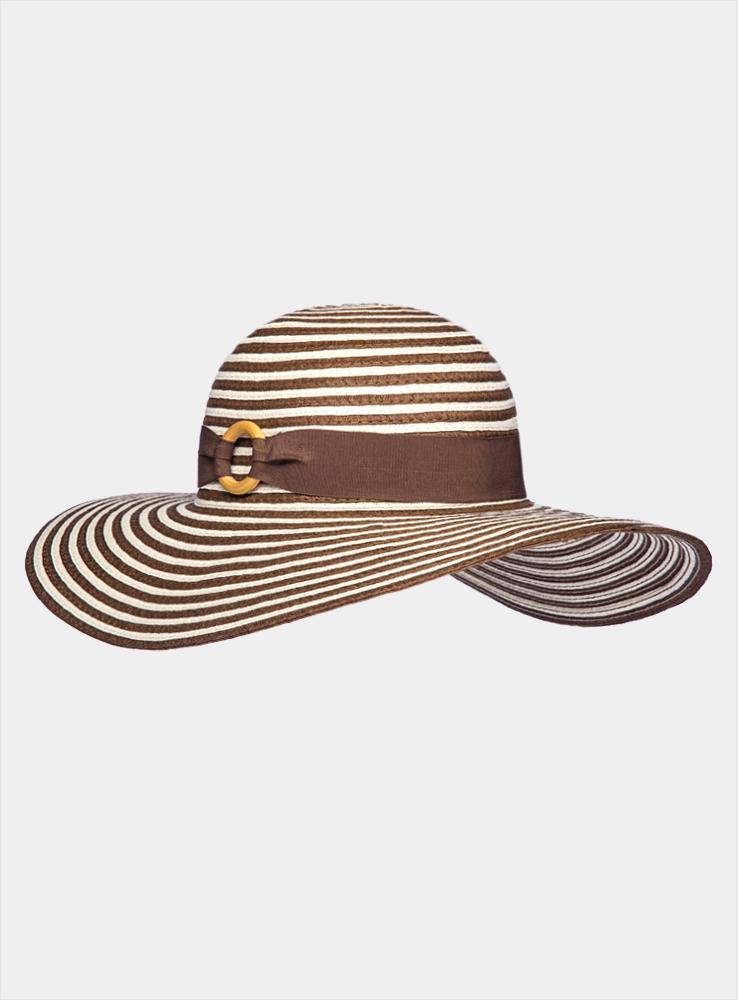 Шляпа женская Venezuela1963714Летняя женская шляпа Canoe Venezuela, выполненная из искусственной соломы, станет незаменимым аксессуаром для пляжа и отдыха на природе. Широкие поля шляпы надежно защищают от солнечных лучей. Шляпа оформлена стильными горизонтальными полосками и украшена лентой, скрепленной оригинальным деревянным колечком. Плетение шляпы обеспечивает необходимую вентиляцию и комфорт даже в самый знойный день. Шляпа легко восстанавливает свою форму после сжатия. Стильная шляпа с элегантными волнистыми полями подчеркнет вашу неповторимость и дополнит ваш повседневный образ.