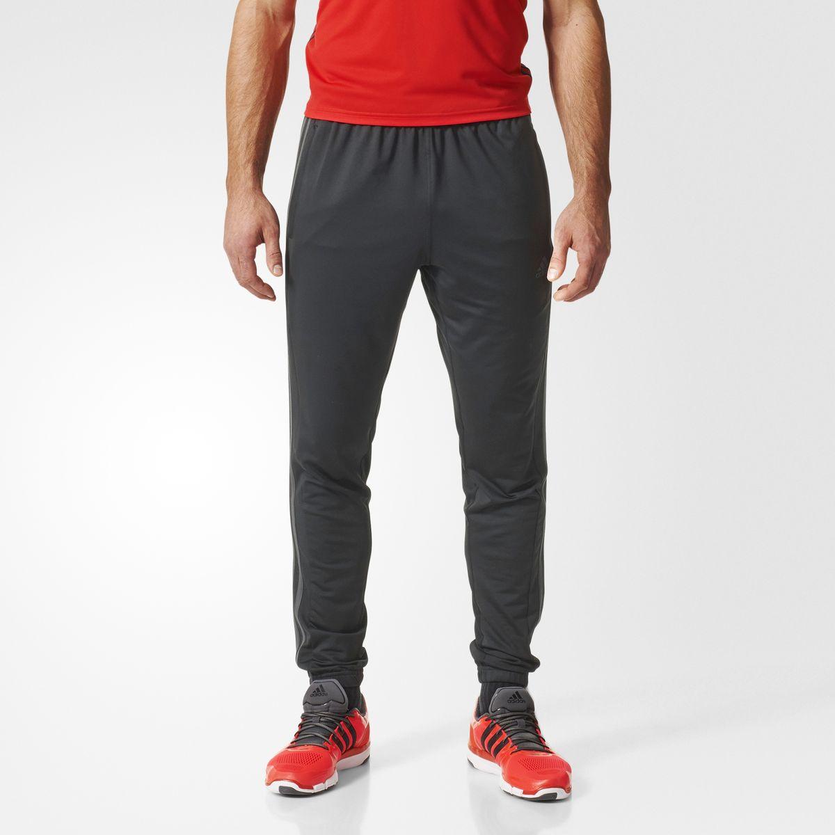 Брюки спортивные мужские. AJ5563AJ5563БРЮКИ COOL365 СПОРТИВНЫЕ БРЮКИ ДЛЯ САМЫХ ИНТЕНСИВНЫХ ТРЕНИРОВОК. Мужские спортивные брюки для идеального баланса тепла и вентиляции во время тренировок. Модель с технологией climacool эффективно отводит излишки пота от кожи, поддерживая комфортную температуру тела. Эластичный трикотаж для свободы естественных движений. Длина по внутреннему шву 75,5 см (размер 50) Технология climacool сохраняет приятные ощущения прохлады и свежести благодаря специальным сетчатым вставкам Боковые карманы на молнии; эластичный пояс на регулируемых завязках-шнурках; рифленые манжеты; эластичная ткань; зауженные брючины Эта модель — часть экологической программы adidas: использованы технологии, сберегающие природные ресурсы; каждая нить имеет значение: переработанный полиэстер сохраняет природные ресурсы и уменьшает отходы производства Зауженный к низу крой