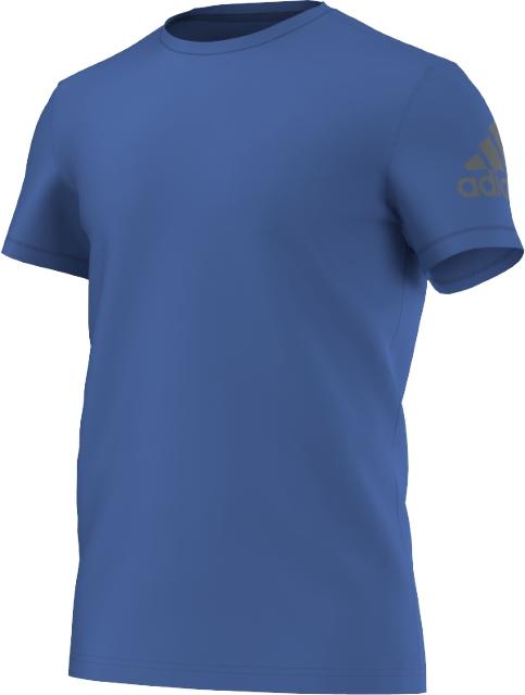 Футболка для бега мужская. AK0674AK0674Спортивная футболка от adidas Performance. Модель прямого кроя создана из легкого материала c технологией ClimaLite.