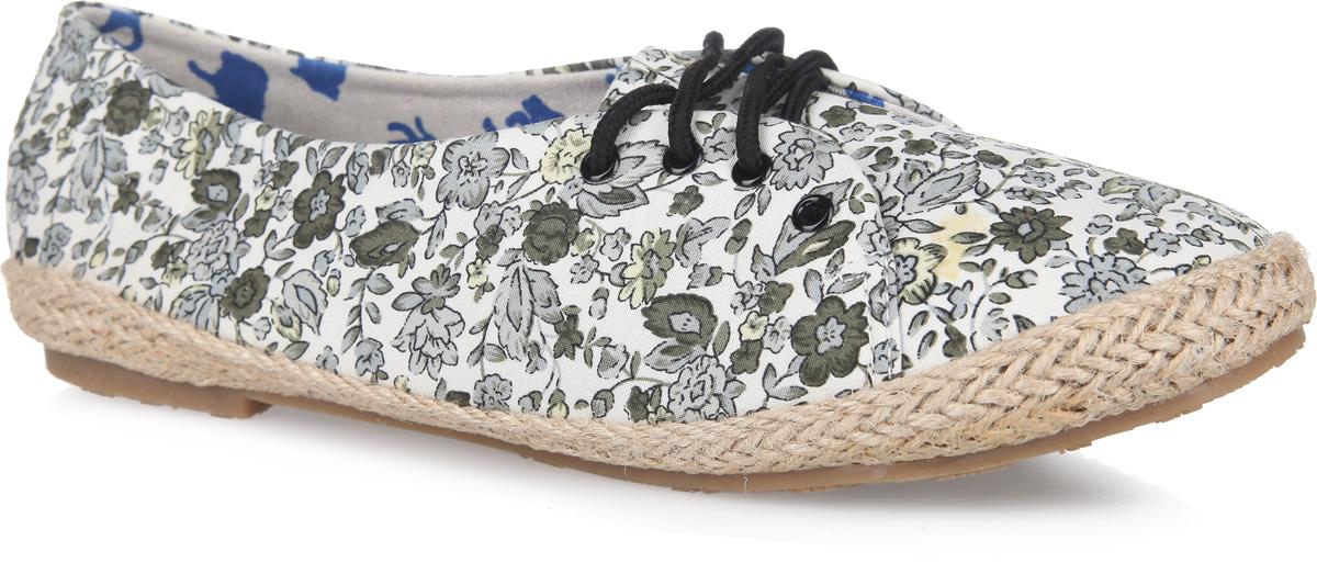 Балетки женские. SM1258_12_35_VIOLETSM1258_12_01_BLACKЧудесные туфли от Spur покорят вас с первого взгляда. Модель выполнена из плотного текстиля, оформленного яркими цветочными изображениями. Подъем дополнен шнуровкой, надежно фиксирующей обувь на ноге. Подкладка и стелька, изготовленные из текстиля, гарантируют уют и предотвращают натирание. Верхняя часть подошвы по контуру оформлена плетеной джутовой нитью. Невысокий широкий каблук и подошва оснащены рифлением для лучшего сцепления с поверхностями. Стильные туфли внесут яркие нотки в ваш модный образ!