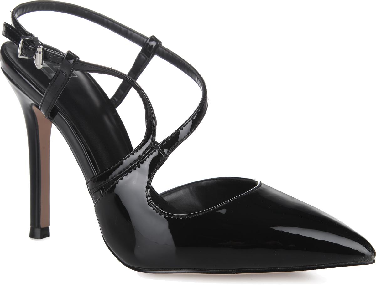 Туфли женские. 870-08-MT-01-PP870-08-MT-01-PPУмопомрачительные туфли от Calipso создадут вам игривое настроение! Модель выполнена из искусственной лакированной кожи и оформлена изящными ремешками. Заостренный, чуть вытянутый носок смотрится невероятно женственно. Ремешок с металлической пряжкой прямоугольной формы отвечает за надежную фиксацию модели на щиколотке. Длина ремешка регулируется за счет болта. Высокий каблук-шпилька смотрится притягательно. Подошва с рифлением обеспечивает отличное сцепление с любыми поверхностями. Эффектные туфли внесут изюминку в ваш модный образ.