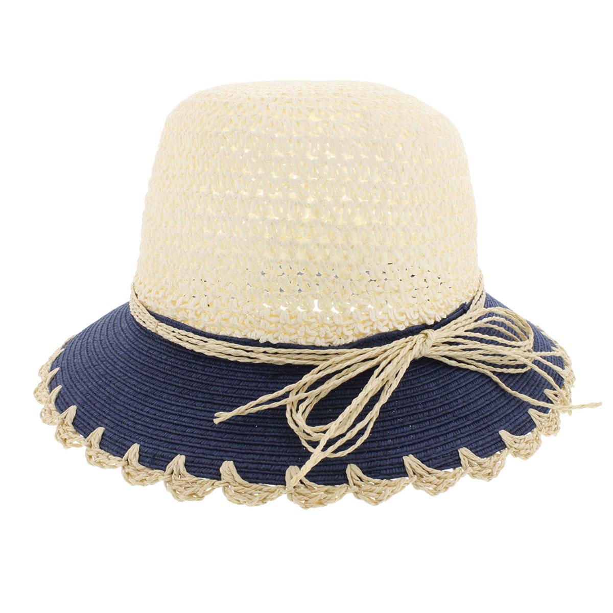 Шляпа женская Romy. 77-14077-140-02Летняя женская шляпа R.Mountain Romy станет незаменимым аксессуаром для пляжа и отдыха на природе. Такая шляпка не только защитит вас от солнца, но и станет стильным дополнением вашего образа. Модель украшена соломенной лентой вокруг тульи. Края полей также отделаны оригинальными вензелями из соломки. Плетение шляпы обеспечивает необходимую вентиляцию и комфорт даже в самый знойный день. Шляпа легко восстанавливает свою форму после сжатия. Эта элегантная легкая шляпка подчеркнет вашу неповторимость и дополнит ваш повседневный образ.