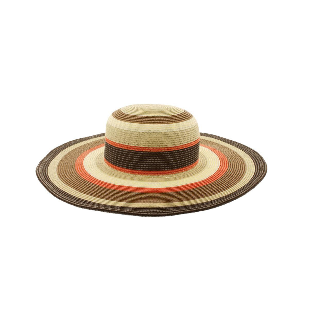 Шляпа77-127-35-56Широкополая шляпа R.Mountain Lisbeth, выполненная из бумаги и полиэстера, украсит любой наряд. Шляпа оформлена принтом в полоску и небольшим металлическим логотипом фирмы. Благодаря своей форме, шляпа удобно садится по голове и подойдет к любому стилю. Шляпа легко восстанавливает свою форму после сжатия. Такая шляпка подчеркнет вашу неповторимость и дополнит ваш повседневный образ.