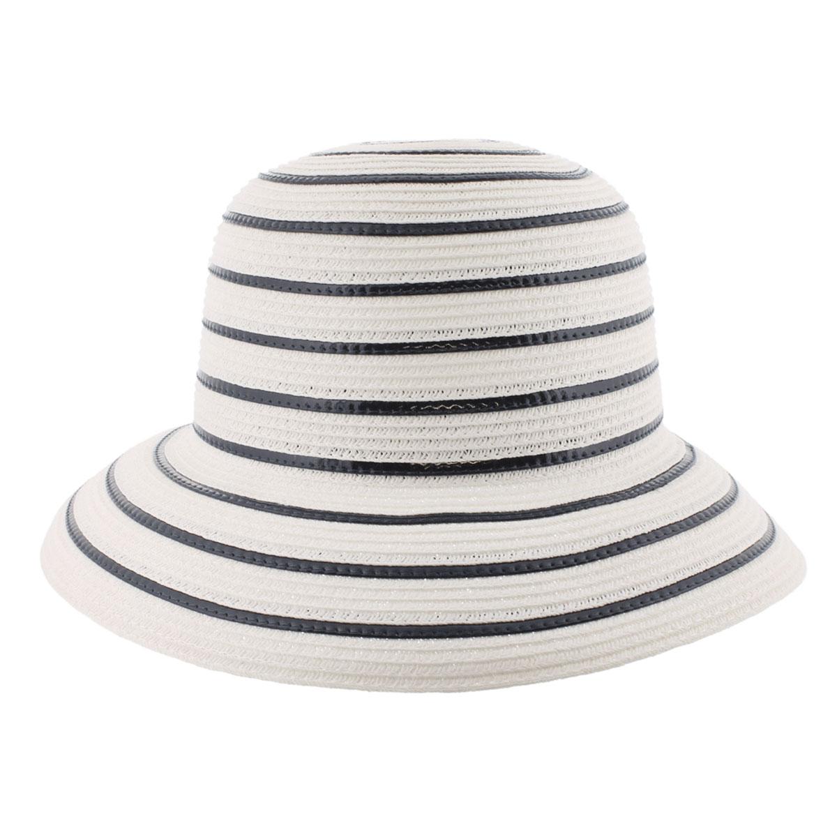 Шляпа77-139-38Летняя женская шляпа R.Mountain Romy станет незаменимым аксессуаром для пляжа и отдыха на природе. Такая шляпка не только защитит вас от солнца, но и станет стильным дополнением вашего образа. Шляпа оформлена небольшим металлическим логотипом фирмы в морской тематике. Плетение шляпы обеспечивает необходимую вентиляцию и комфорт даже в самый знойный день. Шляпа легко восстанавливает свою форму после сжатия. Эта элегантная легкая шляпка подчеркнет вашу неповторимость и дополнит ваш повседневный образ.