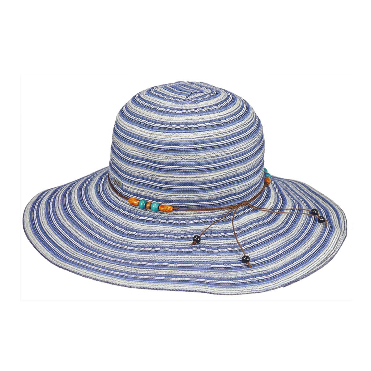 Шляпа женская Clara. 77-09077-090-18-00Широкополая шляпа R.Mountain Clara украсит любой наряд. Модель оформлена оригинальным принтом в полоску и тонкой верёвкой с бусинами вокруг тульи. Благодаря своей форме, шляпа удобно садится по голове и подойдет к любому стилю. Изделие легко восстанавливает свою форму после сжатия. Такая шляпка подчеркнет вашу неповторимость и дополнит ваш повседневный образ.