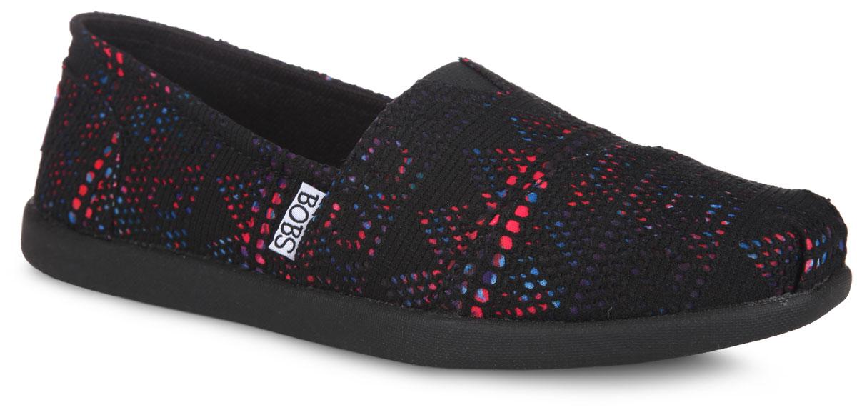 Эспадрильи женские Bobs. 33756-BKMT33756-BKMTСтильные эспадрильи от Skechers Bobs заинтересуют вас с первого взгляда. Модель выполнена из текстиля с яркими изображениями, оформленным сетчатым материалом с оригинальным орнаментом. Подъем дополнен эластичной вставкой для лучшего прилегания обуви к ноге, задник - фирменной нашивкой. Подкладка, выполненная из текстиля, гарантирует уют и предотвратит натирание. Текстильная стелька с памятью принимает форму вашей стопы, тем самым обеспечивая максимальный комфорт. Рельефное основание подошвы обеспечивает сцепление с любой поверхностью. Такие эспадрильи сделают вас ярче и подчеркнут вашу индивидуальность!