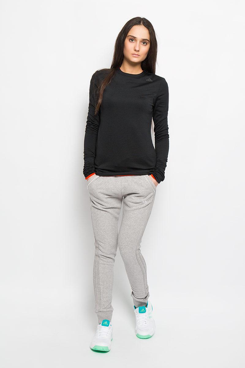 adidas Лонгслив для бега женский Clmht Baselayer. AC2305